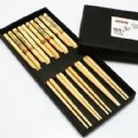 Chinese chopsticks, Bamboo, Natural colours, 5 Pairs, 22.5cm x 0.7cm, (CS112)